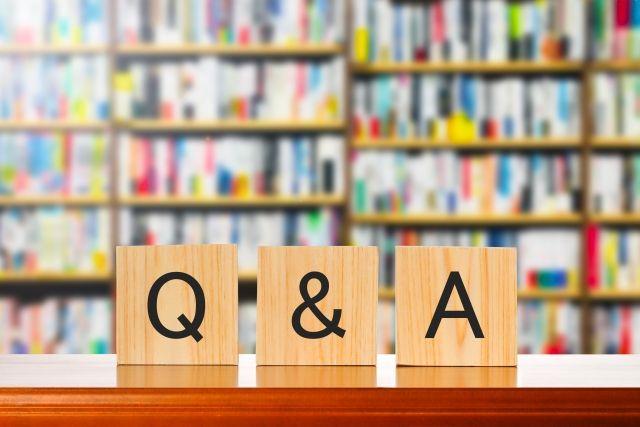 Q&Aと書かれたブロック